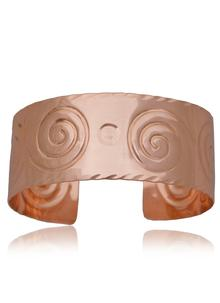 Wide Scroll Copper Bracelet