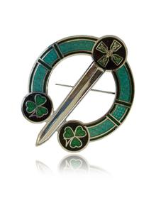 Celtic Shamrock Tara Brooch