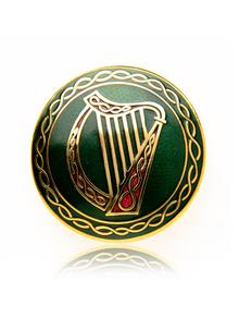 Round Celtic Harp Brooch