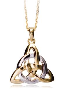 14 Carat Gold Trinity Knot Circle of Life Pendant