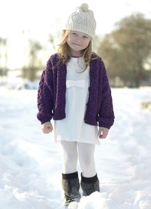 Girls Aran Lumber Cardigan
