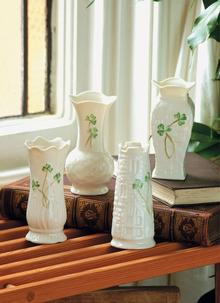 Belleek Set Of Four Mini Vases