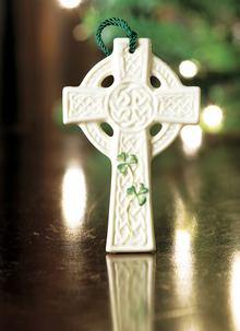 Belleek St. Kierans Celtic Cross Ornament
