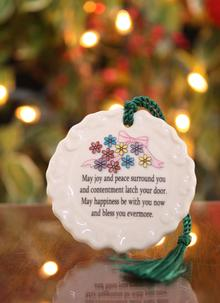 Belleek Joy and Peace Ornament
