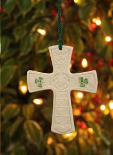 Belleek Saint Patrick's Cross Ornament