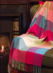 Blarney Heritage Check Throw