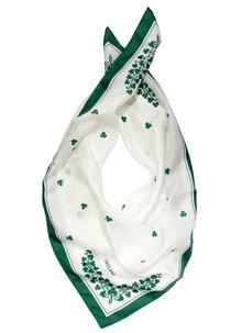 White Shamrock Square Scarf