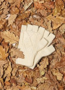 Hand-Knit Fingerless Gloves