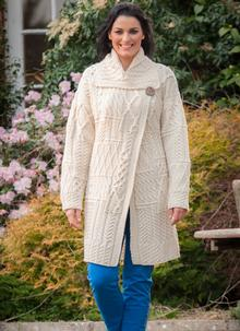 Aran Cardigan One Button