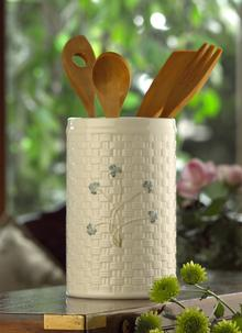 Belleek Shamrock Utensil Holder
