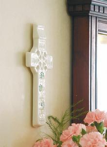 Belleek Celtic Shamrock Wall Cross