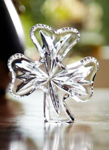 Waterford Crystal Shamrock Paperweight