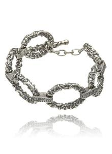 Sterling Silver Viking T-Bar Bracelet