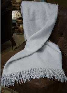 Blarney Mohair Throw Powder Blue