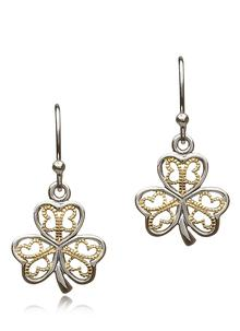 Sterling Silver Shamrock Earrings