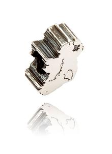 Sterling Silver Map of Ireland Bead