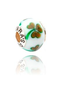 Glass Shamrock Bead