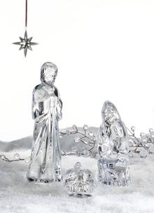 Waterford Crystal Holy Family Nativity Set