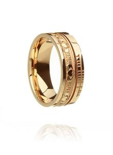 10K Gold Ladies & Gents Claddagh Ogham Band