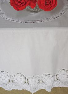 Vintage Crochet Tablecloth Round 36