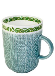 Aran Style Woven Mugs Set of 4