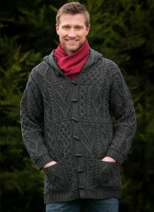 Aran Hooded Coat