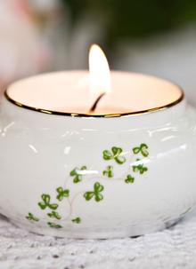 Royal Tara Trellis Shamrock Votive Candle