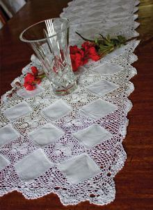 Crochet Diamond Runner 16