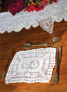 Lace Placemats Set of 6: 8