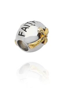 Sterling Silver Faith Bead