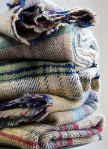 Recycled Wool Throws (Set Of Two)