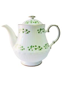 Royal Tara Large Trellis Shamrock Teapot