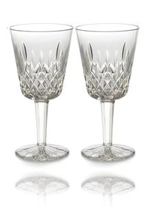 Waterford Crystal Lismore Goblet Pair