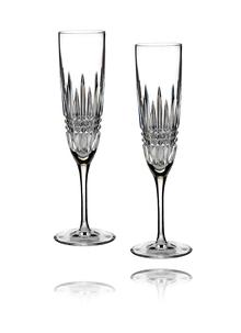 Waterford Crystal Lismore Diamond Flute Pair