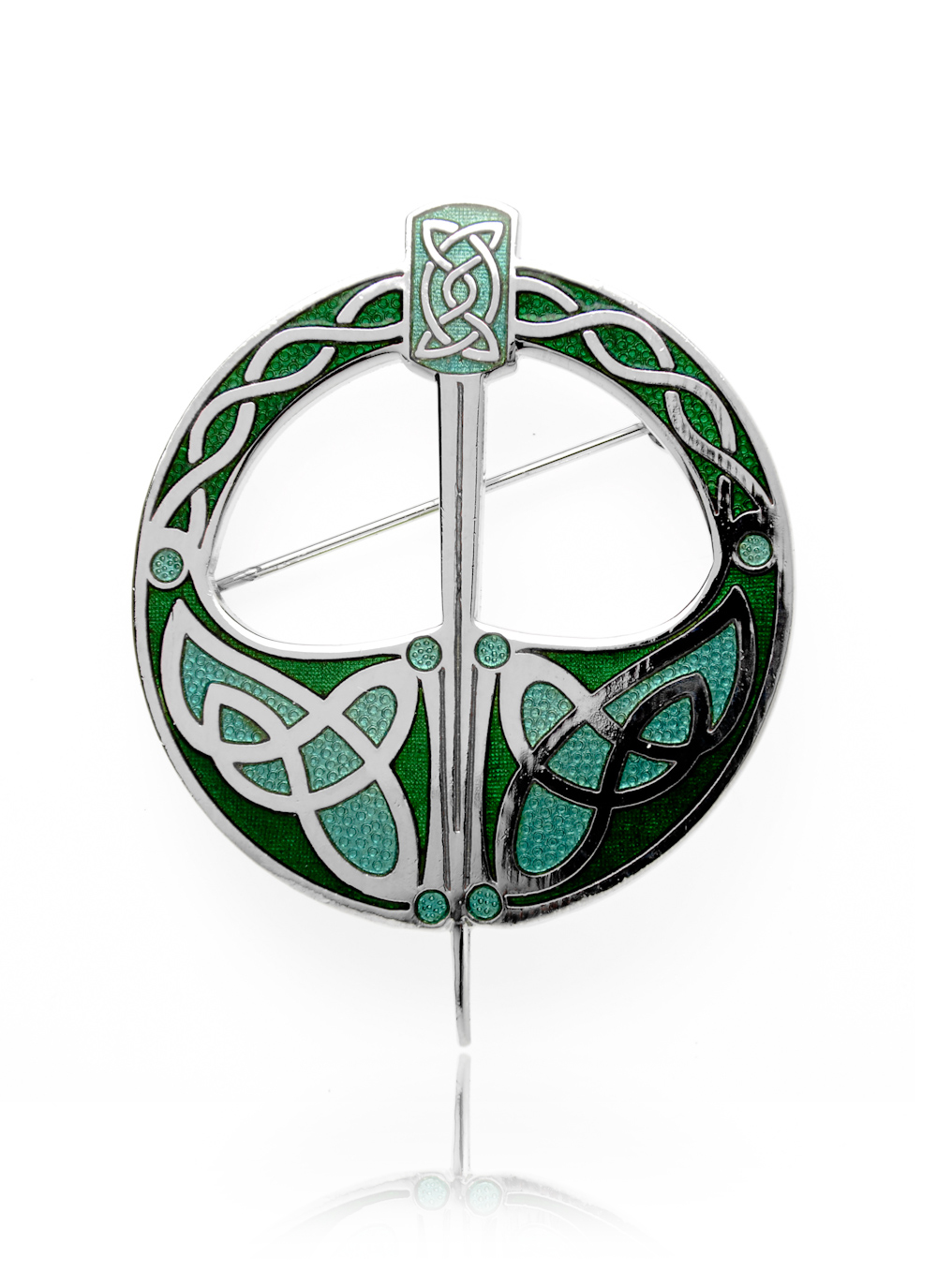 isolated stock white macro brooch celtic in on photo super silver