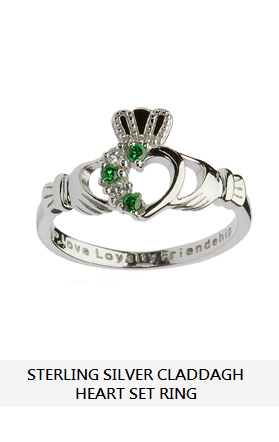Sterling Silver Sweetheart Claddagh Ring Heart Ring