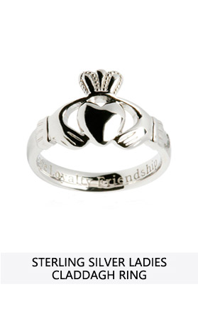 bands ring sterling silver claddagh in