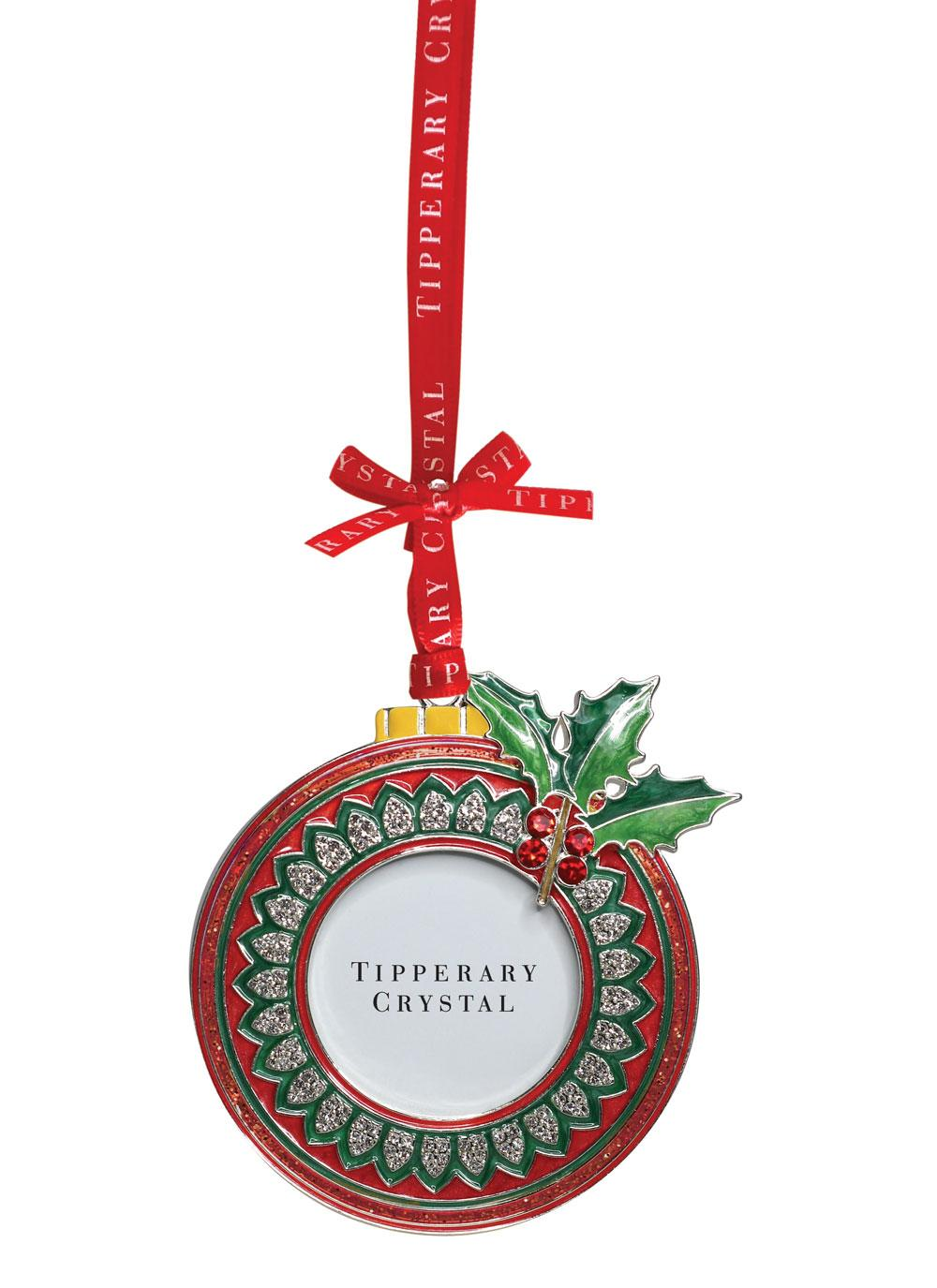 Tipperary crystal sparkle bauble frame ornament blarney for Crystal baubles christmas