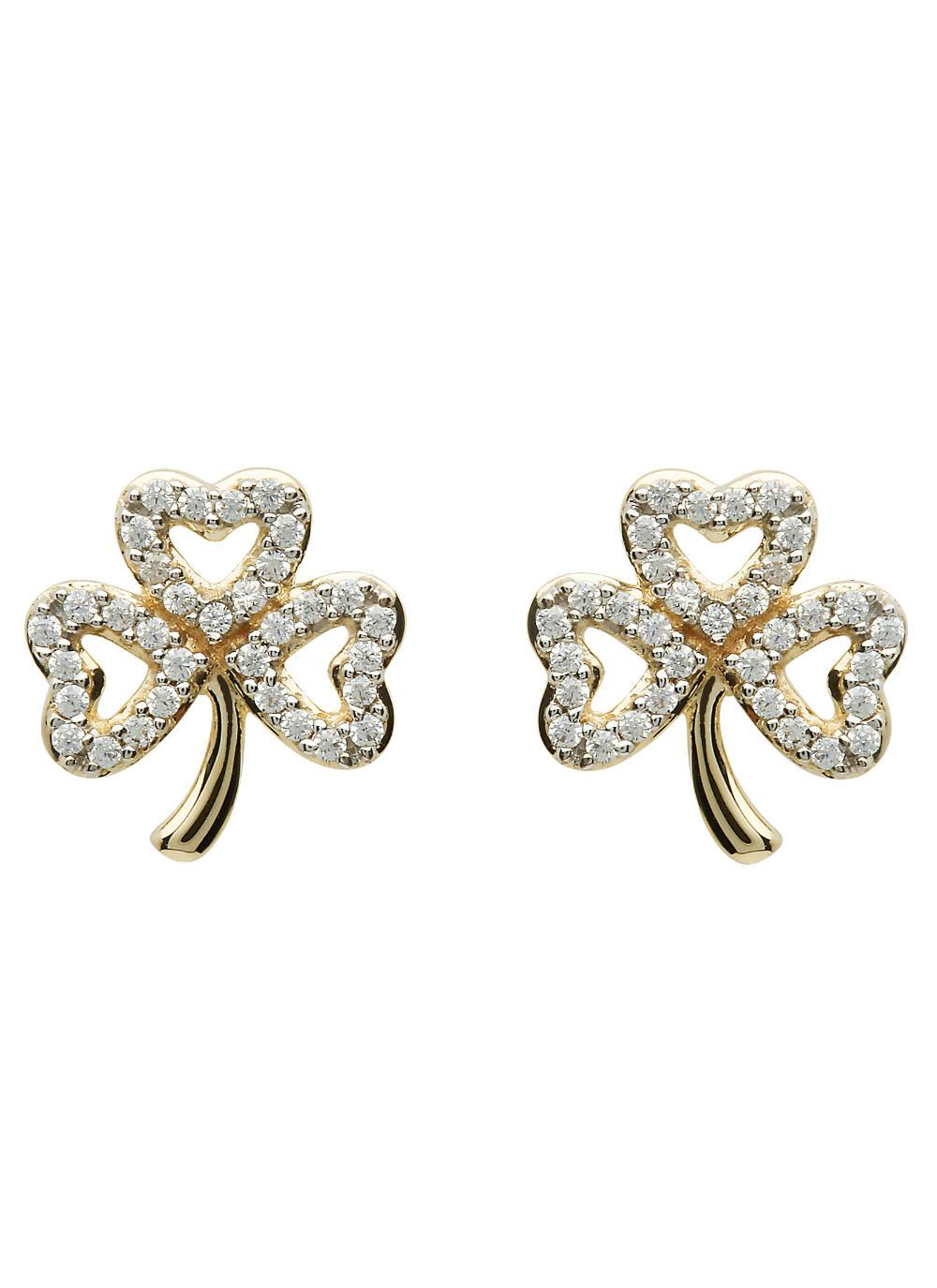 ye gold p kite stud round diamond earrings