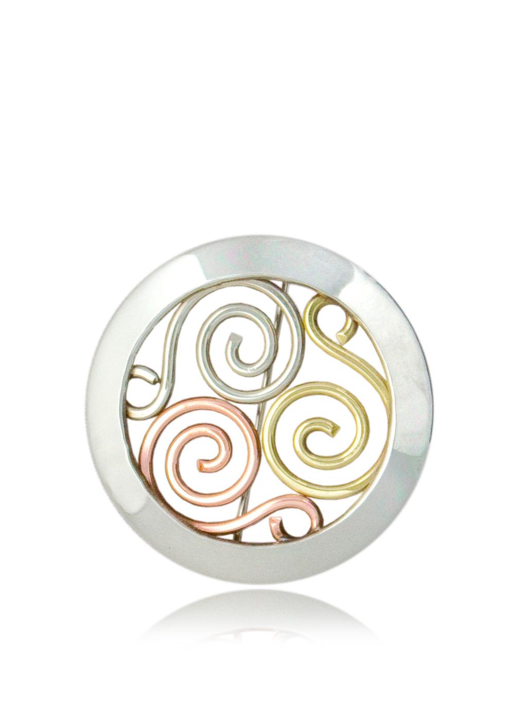 Celtic triskele jewelry triple spiral jewelry celtic triskele brooch buycottarizona Images