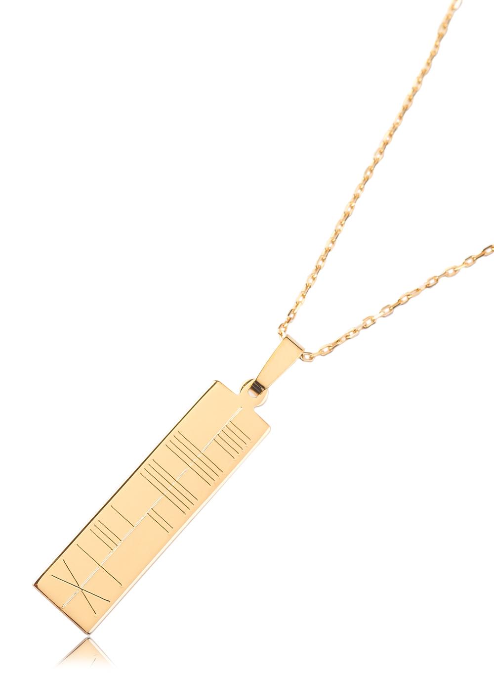 14 carat gold ogham pendant blarney 14k gold ogham pendant aloadofball Images