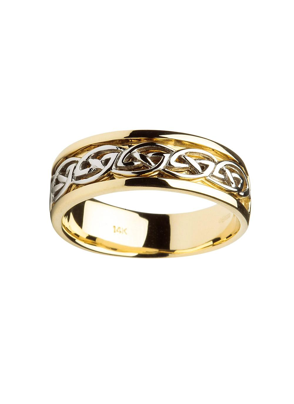 gents 14k gold celtic knot wedding ring - Celtic Knot Wedding Rings
