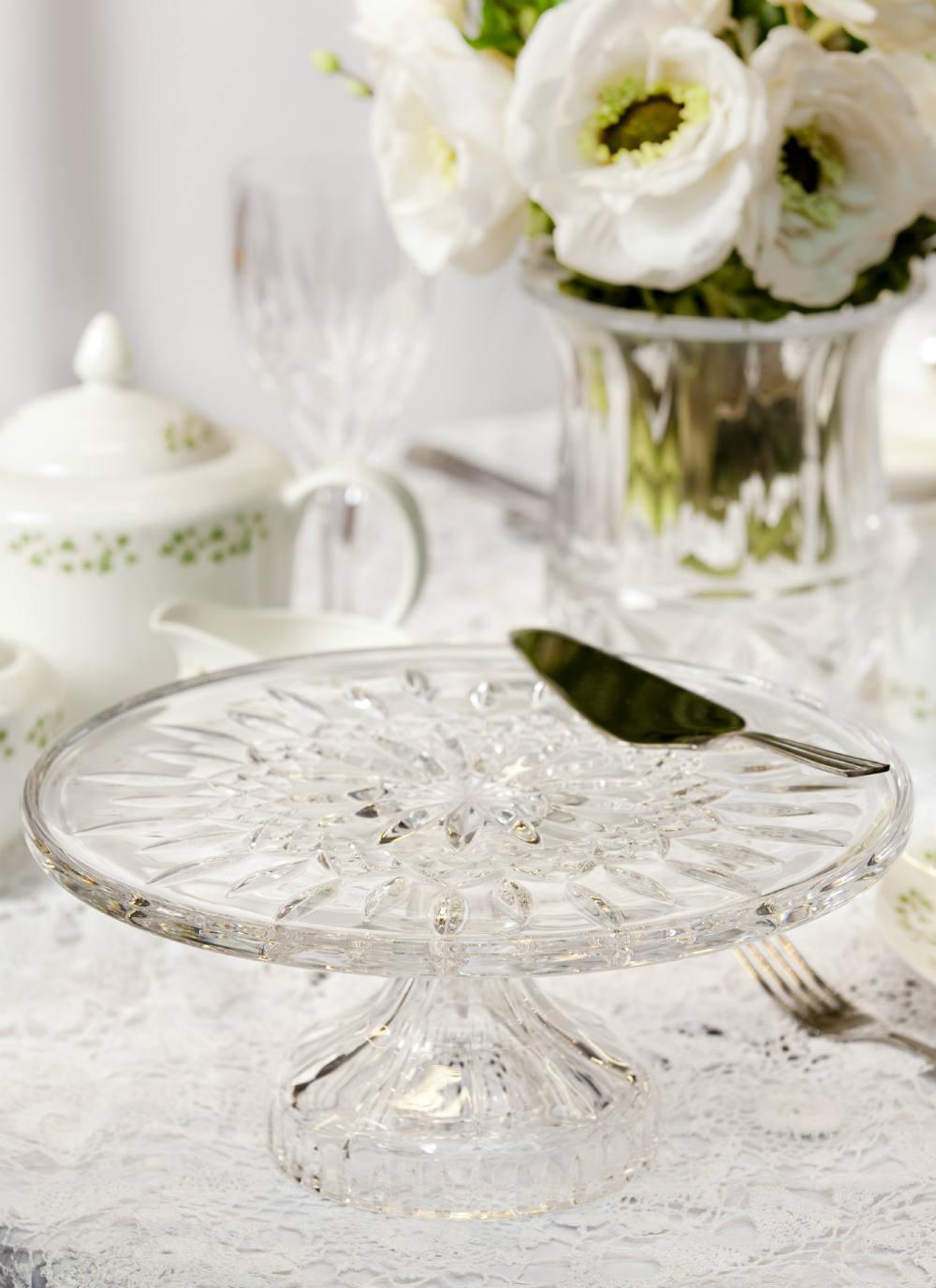 Waterford Crystal Lismore Footed Cake Plate & Waterford Crystal | Lismore Cake Plate | Blarney
