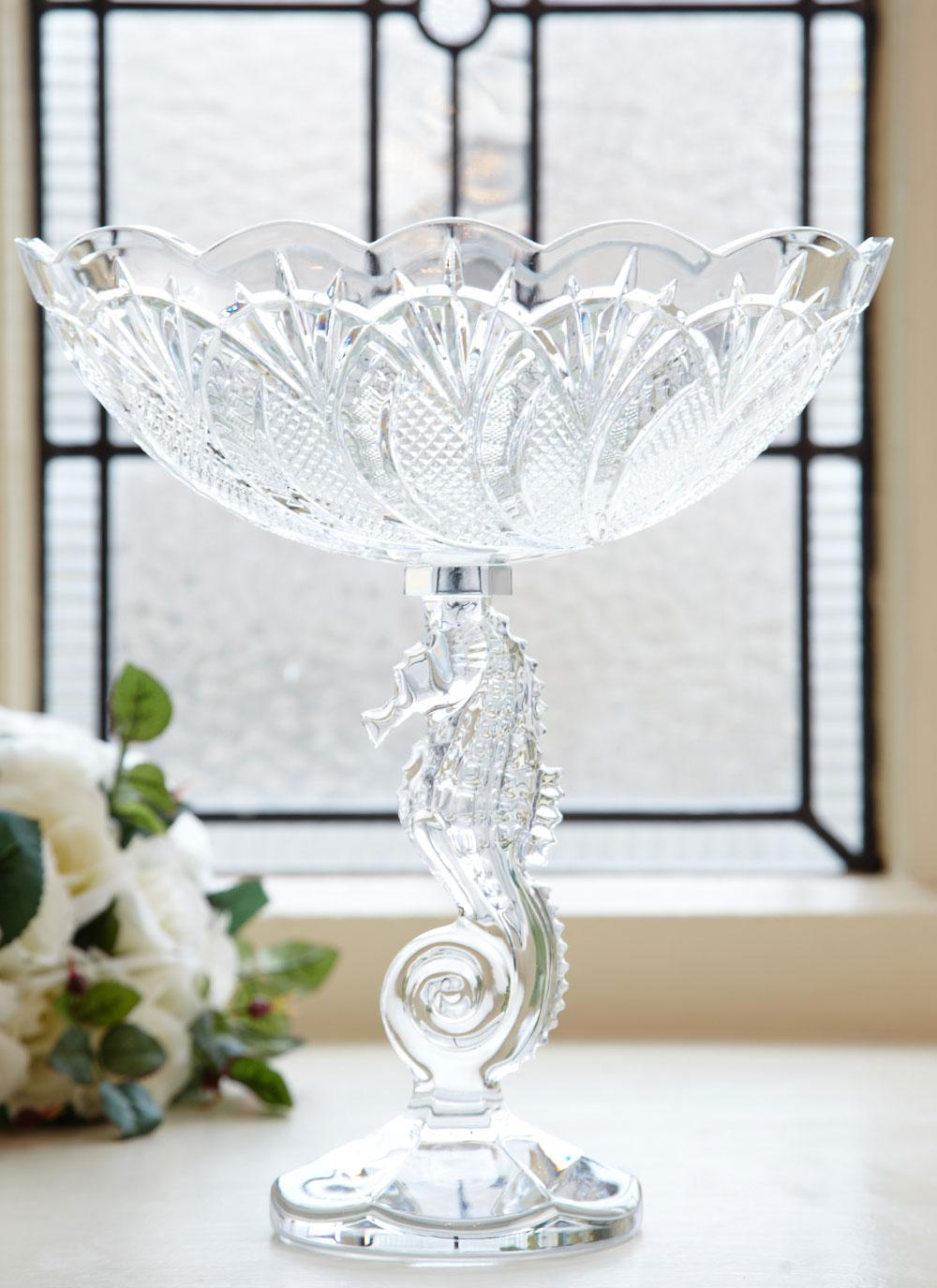 Waterford crystal seahorse centre piece blarney waterford crystal seahorse centrepiece bowl reviewsmspy