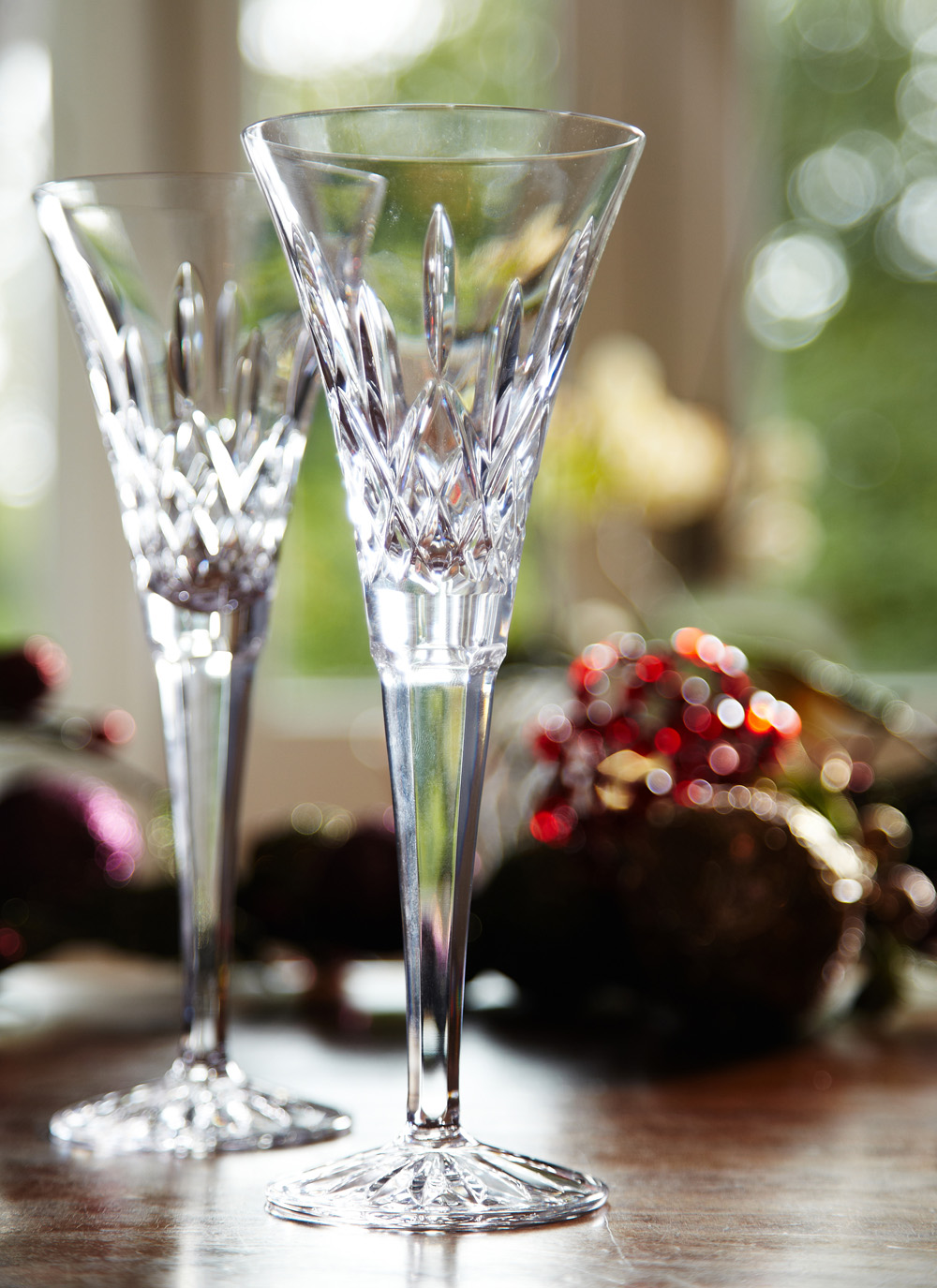 waterford crystal classic lismore toasting flutes pair - Waterford Champagne Flutes