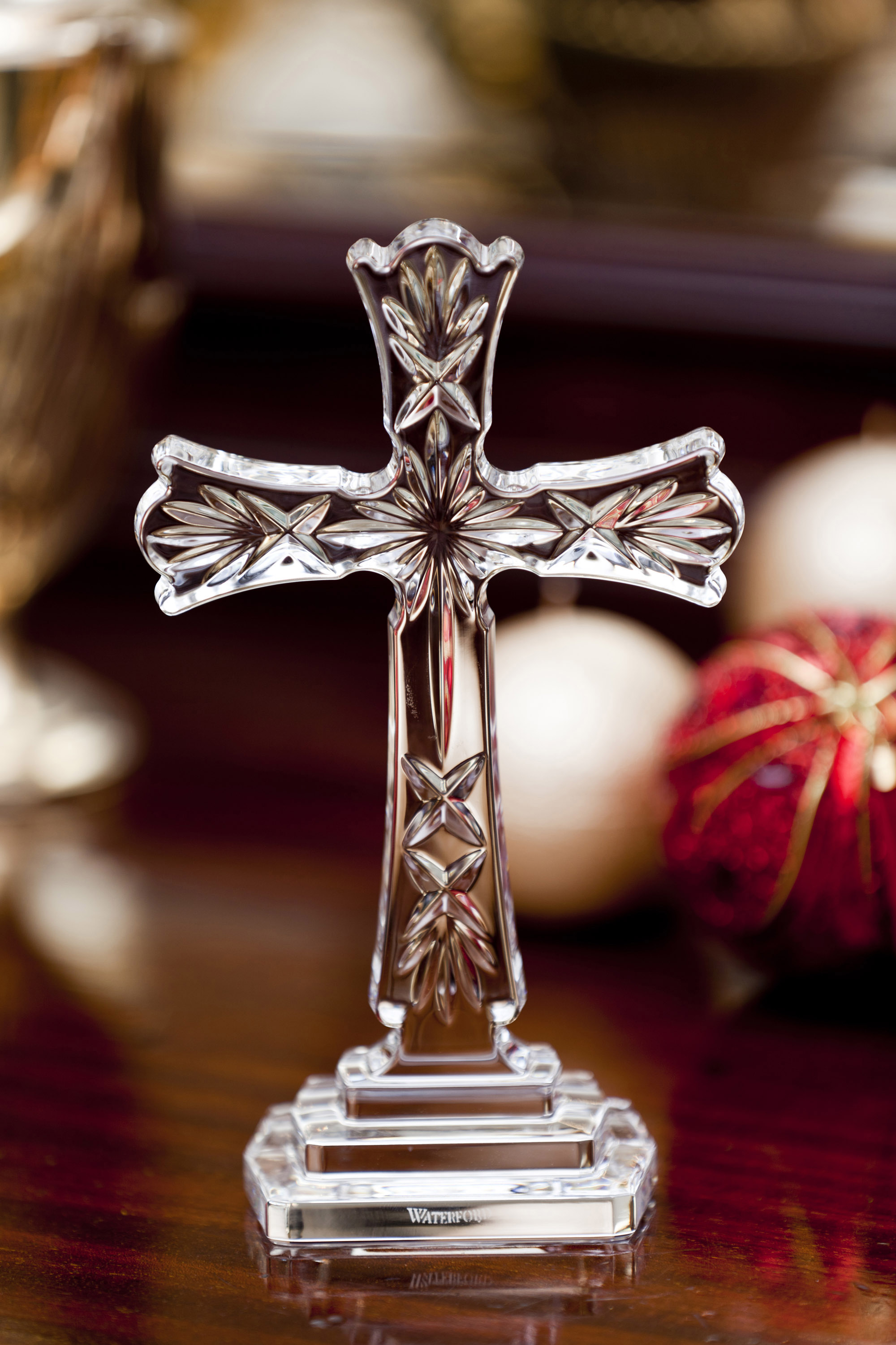 Waterford crystal clocks waterford crystal picture frame giftware waterford crystal celtic standing cross jeuxipadfo Images