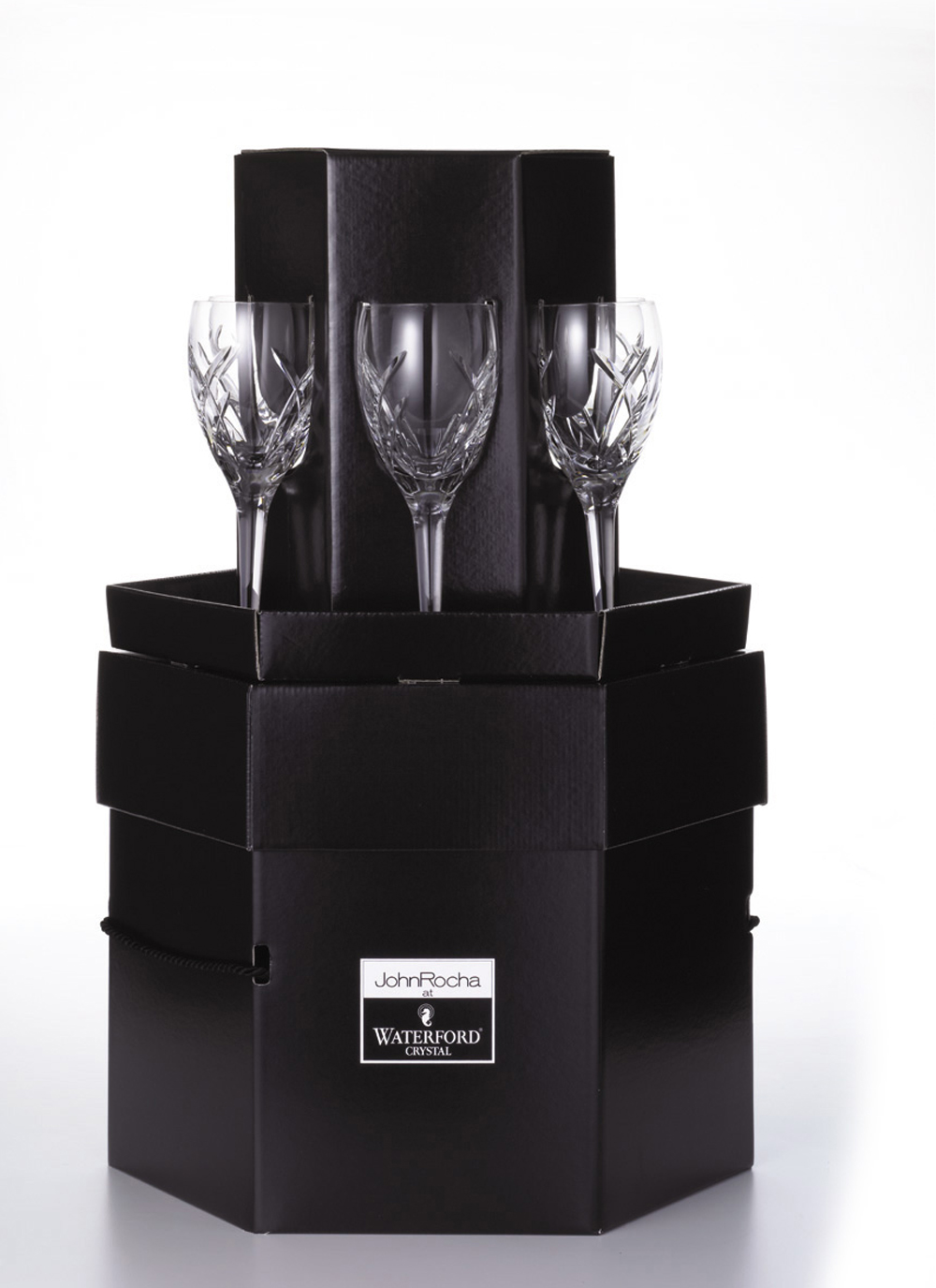 waterford crystal john rocha signature white wine giftbox - Waterford Crystal Wine Glasses