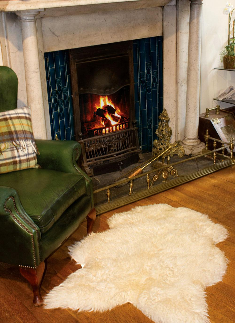 Irish Sheepskin Rug Blarney