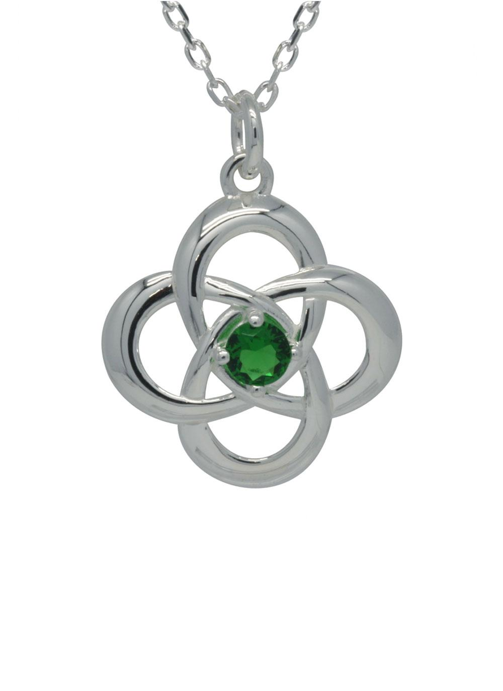 Sterling silver celtic love knot pendant blarney sterling silver celtic love knot pendant aloadofball Image collections