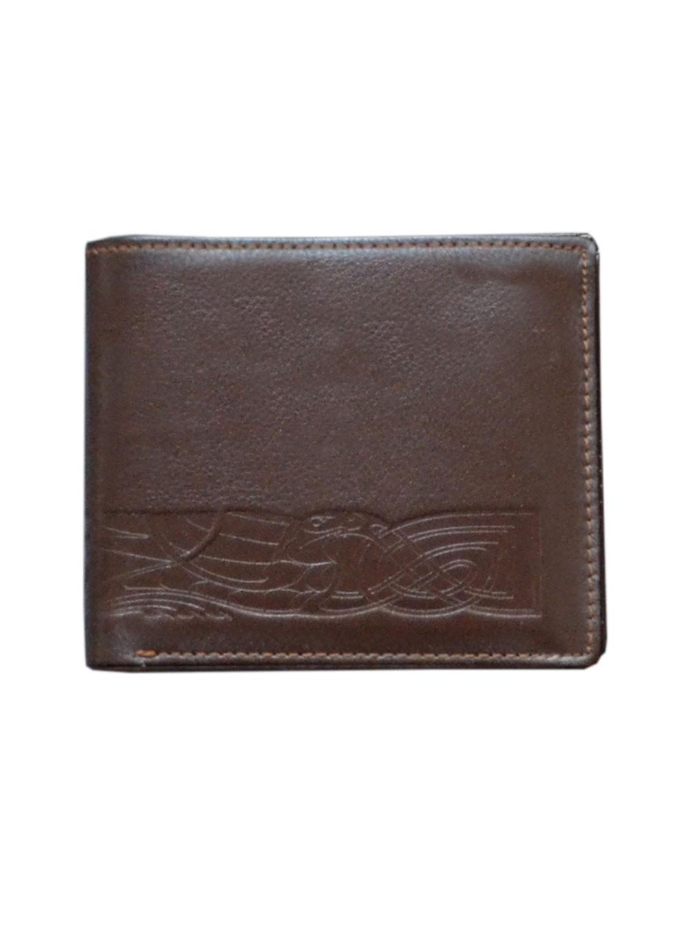 Leather Wallet Celtic Band Brown Blarney